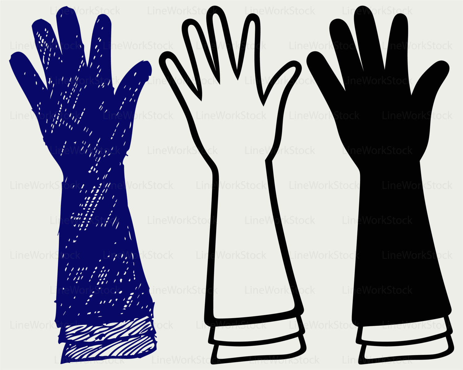 Glove clipart long This  a svg digital