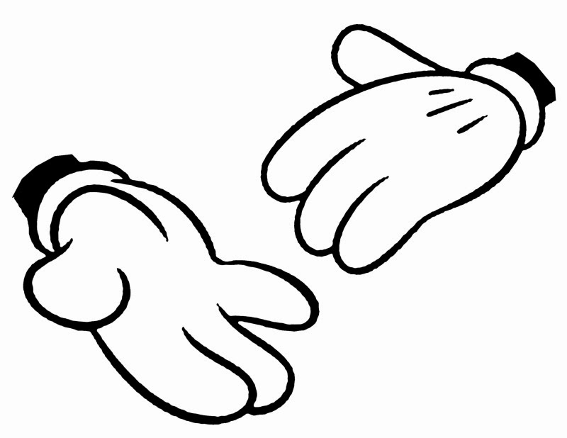 Glove clipart mickey Free Hands Mickey Vector Clipart
