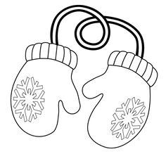 Glove clipart mitten outline Clipart Black Find on and