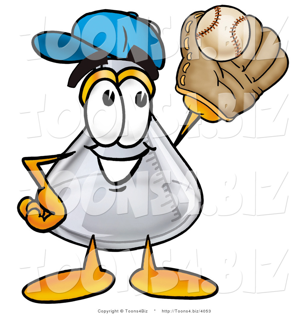 Glove clipart science Beaker Mascot a  with