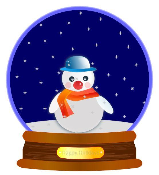 Beach clipart snow globe Christmas christmas snowman globe Clipartix