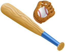 Small clipart baseball bat Bat ball Free art: Free