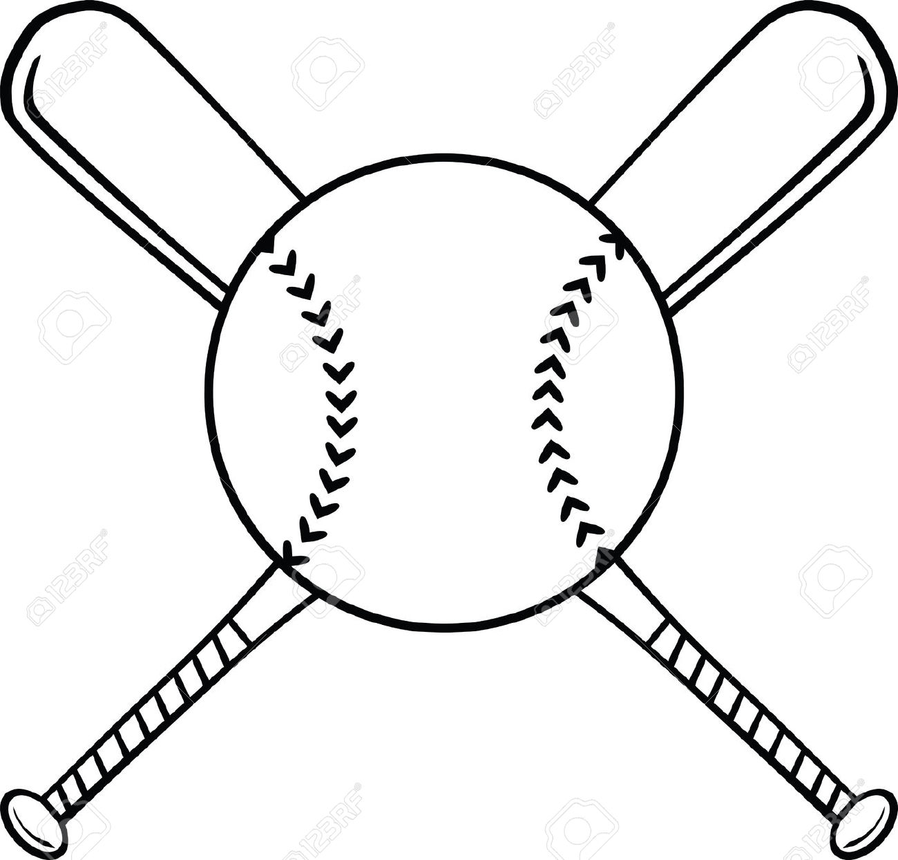 Drawn baseball Ball Softball ClipartFox and Softball