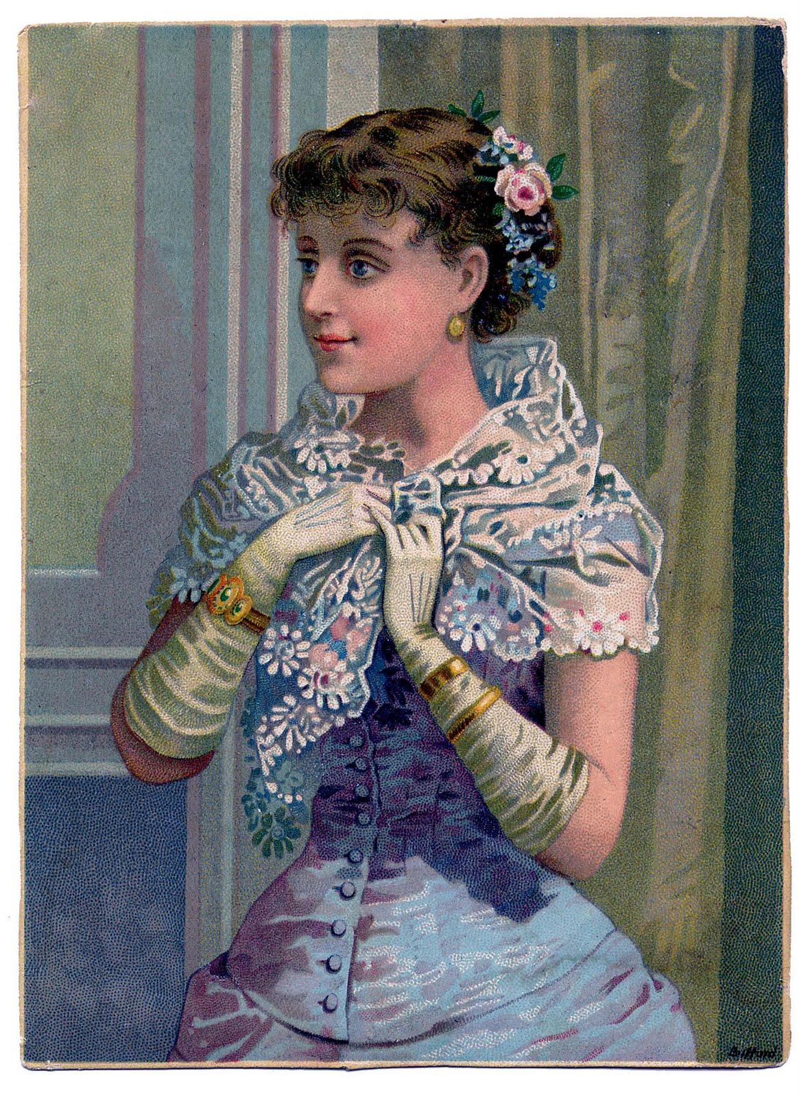 Glove clipart victorian With Art The Lovely Victorian