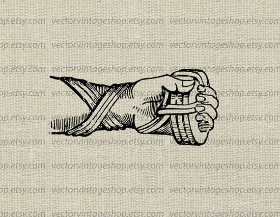 Glove clipart victorian Instant graphic vectorvintageshop from instant