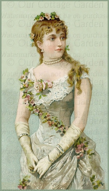 Glove clipart victorian  With Roses
