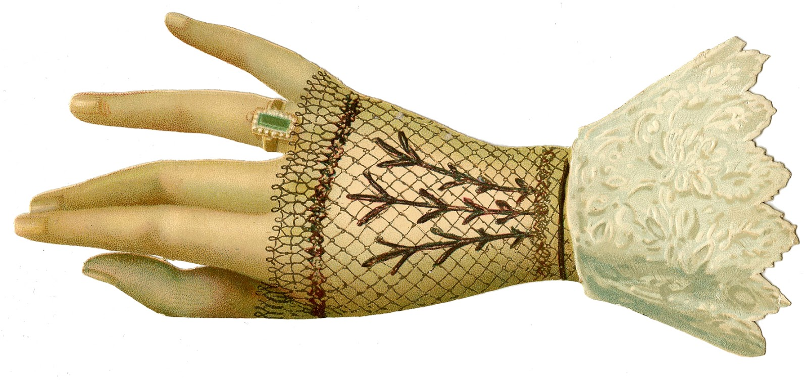 Glove clipart victorian Ring Ladies Hand Victorian Image