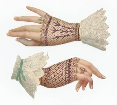 Glove clipart victorian Hands Lady Graphics Color images