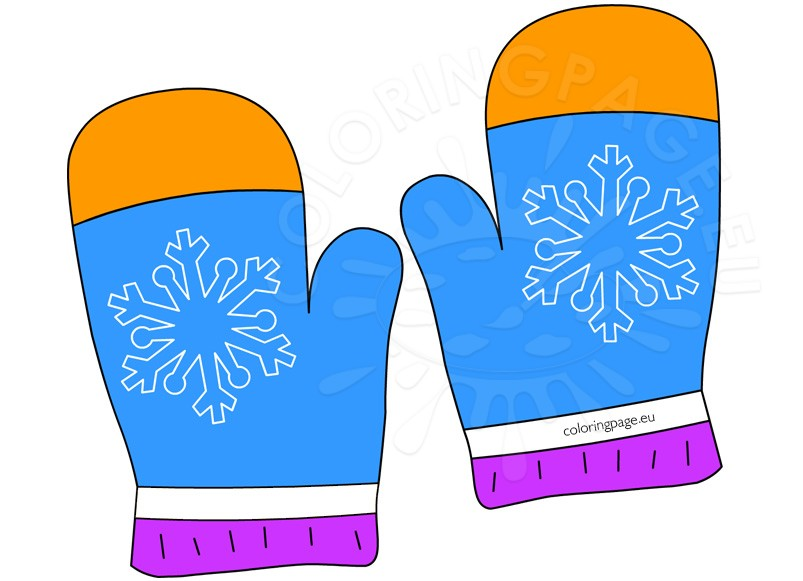 Glove clipart winter gear Coloring Winter Art Clip Clothing
