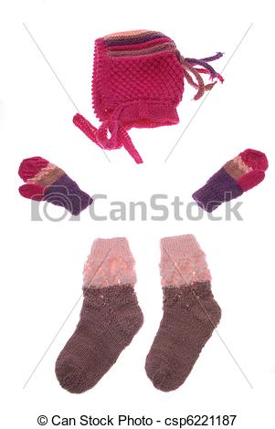 Glove clipart wool hat Gloves csp6221187 of socks and