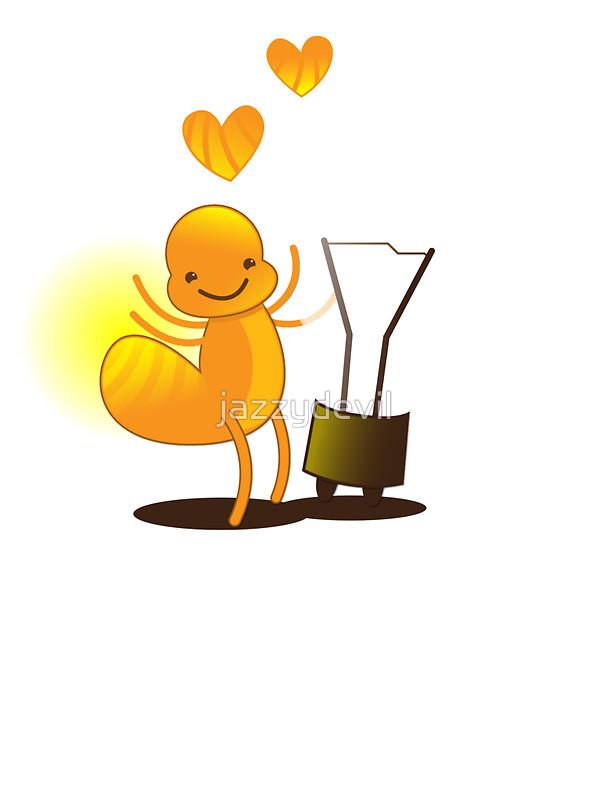 Glowworm clipart Light idea! idea! worm cute