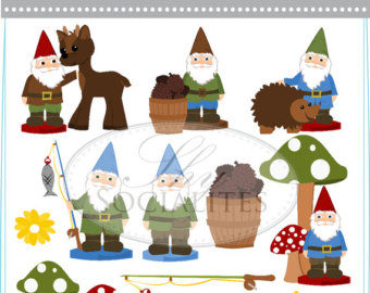 Dwarf clipart garden gnome Etsy and Woodland Gnome Gnomes