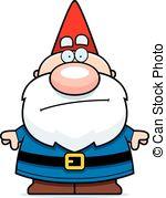 Gnome clipart EPS cartoon Bored A 179