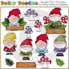 Gnome clipart couple Clipart Sweet Gnome Art Garden