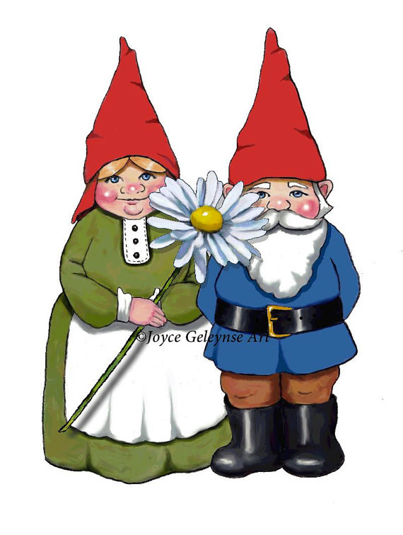 Gnome clipart couple Clipart Drawn Commercial Gnome Use