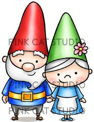 Gnome clipart couple (Nisse) Art Gnome Cat Gnome
