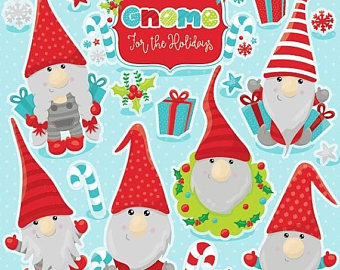 Gnome clipart couple OFF Christmas 80% commercial art