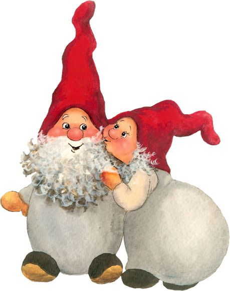 Gnome clipart couple CoupleChristmas GnomesWinter Christmas images Forêt