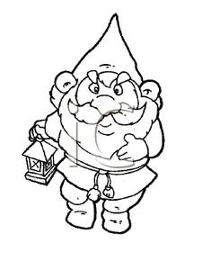 Dwarf clipart black and white Info Images Clipart A Panda