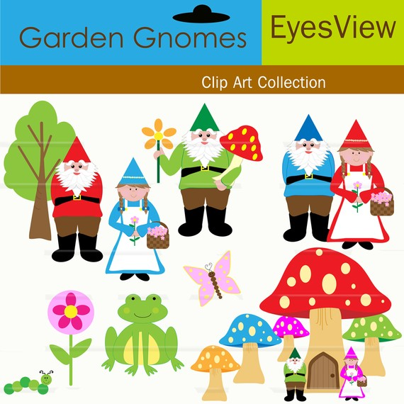 Gnome clipart garden gnome Clipart similar Etsy Clipart INSTANT
