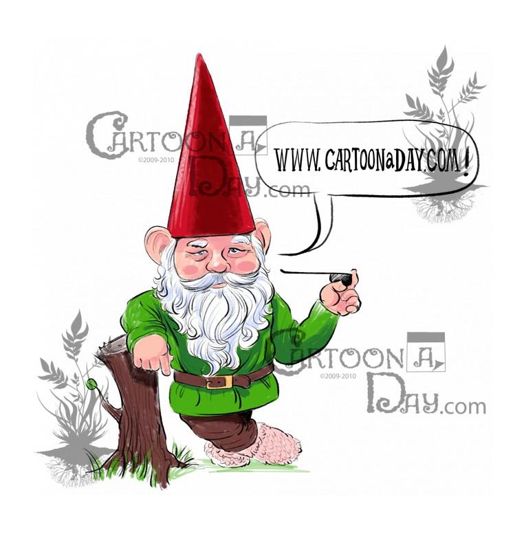 Gnome clipart garden gnome Cartoon Gnome Garden  Cartoon