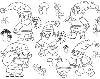Gnome clipart head OFF Vector Forest Mushroom SALE