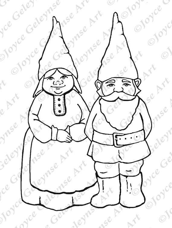 Gnome clipart head Commercial Clipart Art Gnome