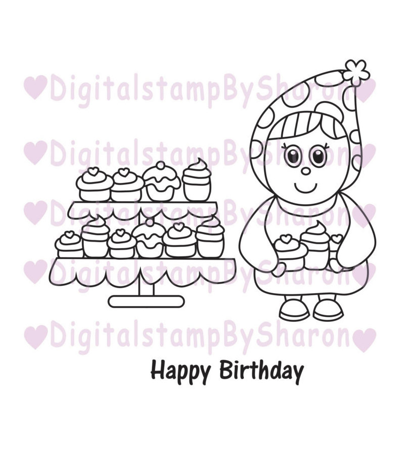 Gnome clipart head Is digital Stamp digital a