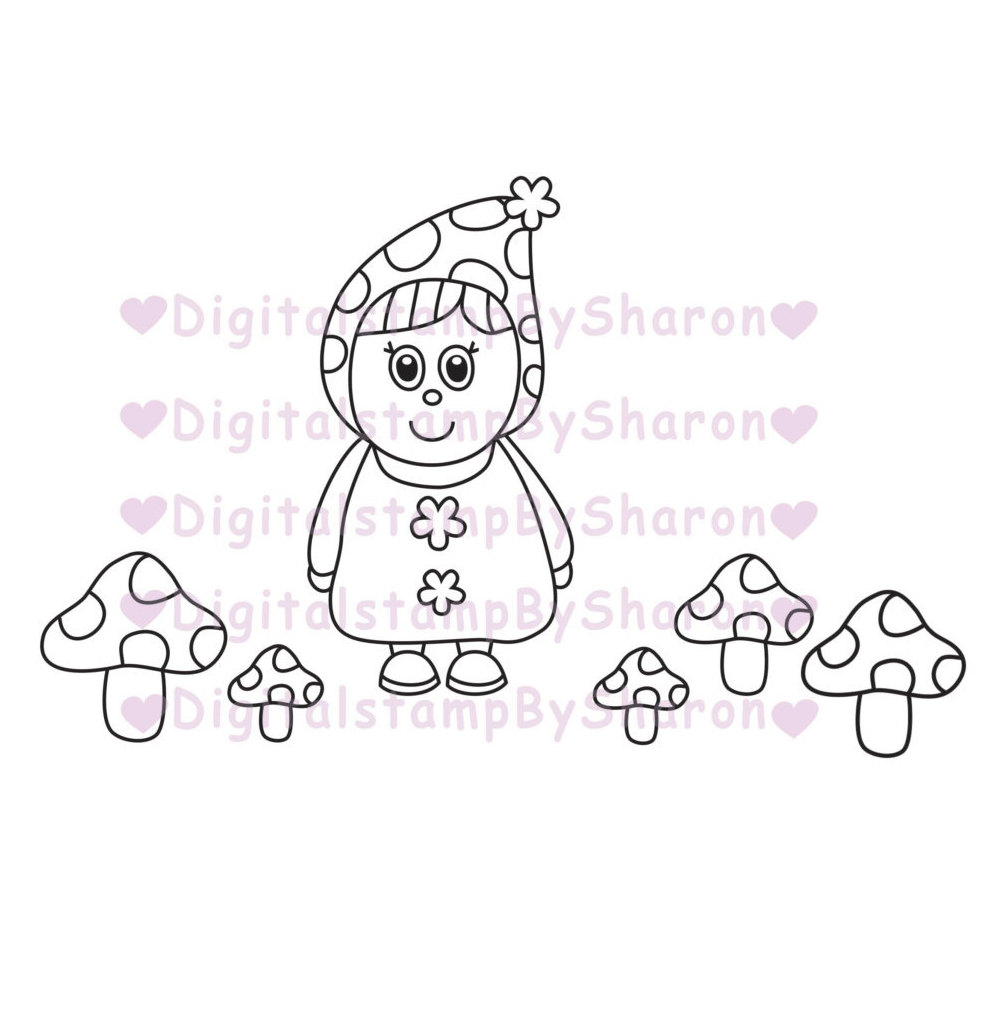 Gnome clipart head Is stamp Digital clipart a