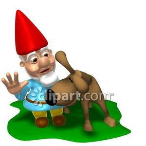 Gnome clipart lawn A Free Dog To on