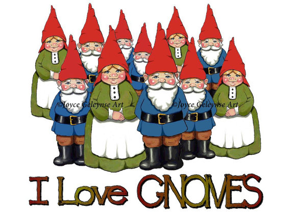 Gnome clipart love Commercial  Drawn I OOAK