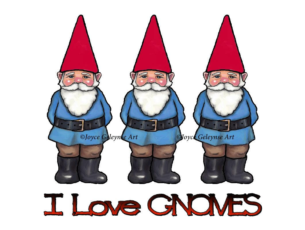 Gnome clipart love Digital OOAK Commercial file Clipart