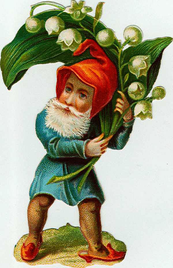 Gnome clipart vintage Gnome Garden Graphic  Vintage