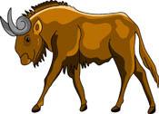 Wildebeest clipart Animals: Gnu Kb 53 Art