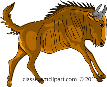 Wildebeest clipart black and white Art Gnu Graphics Gnu and