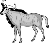 Wildebeest clipart gnu Free Download Clipart Clip Search