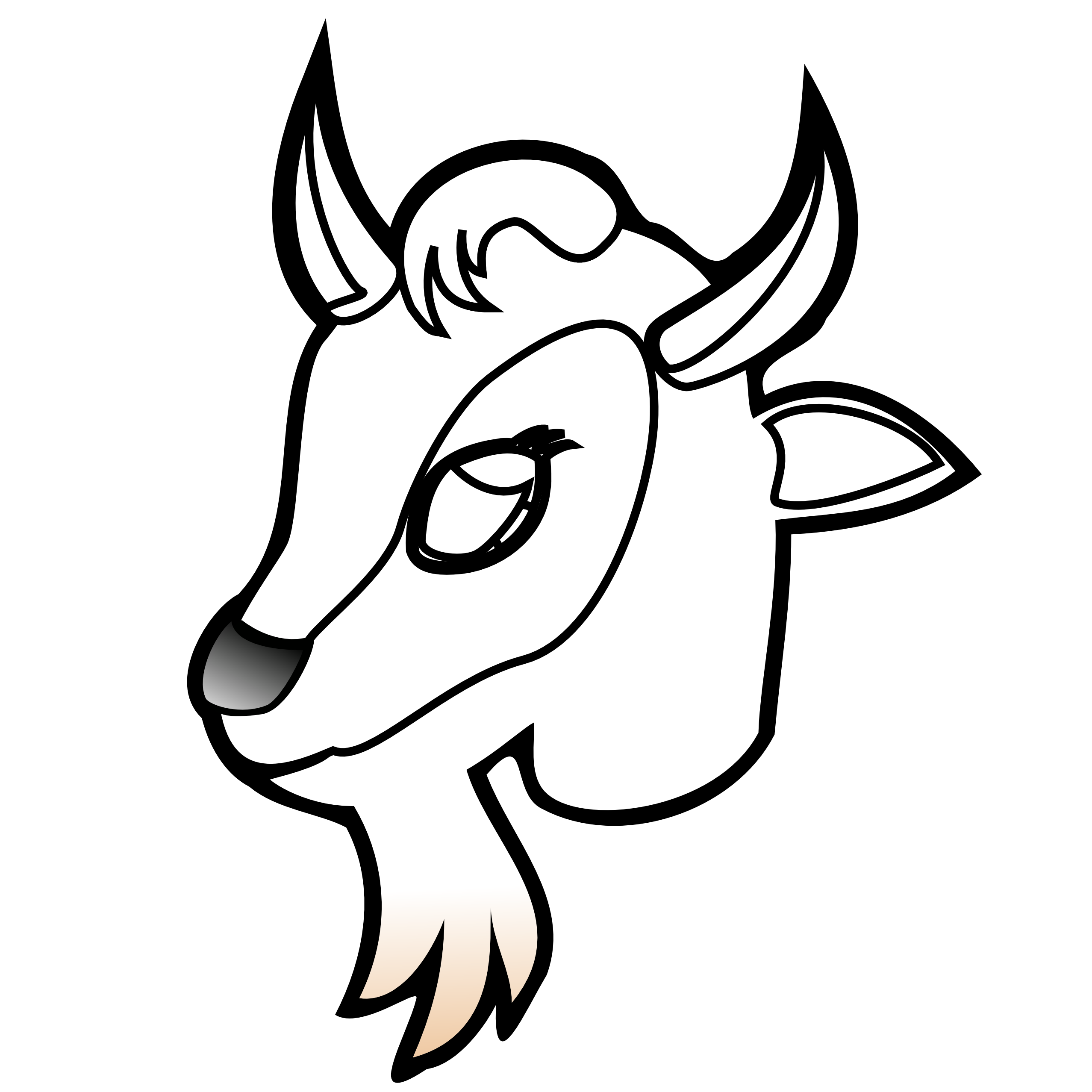 Mountain Goat clipart goat face #11