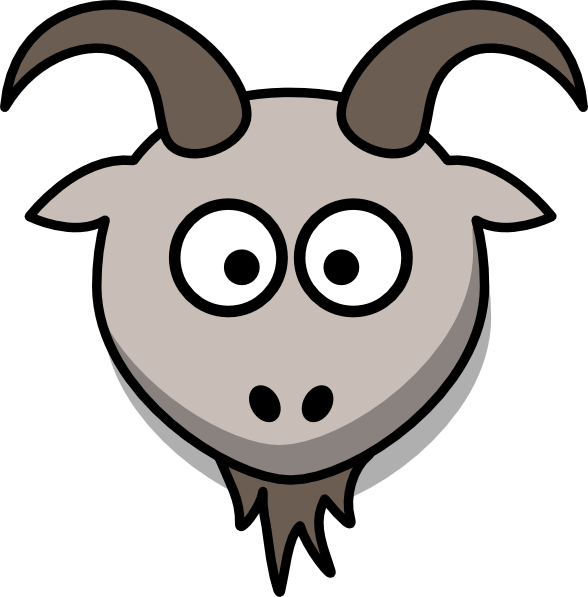 Goats Head clipart Cartoon Clker Head as: image