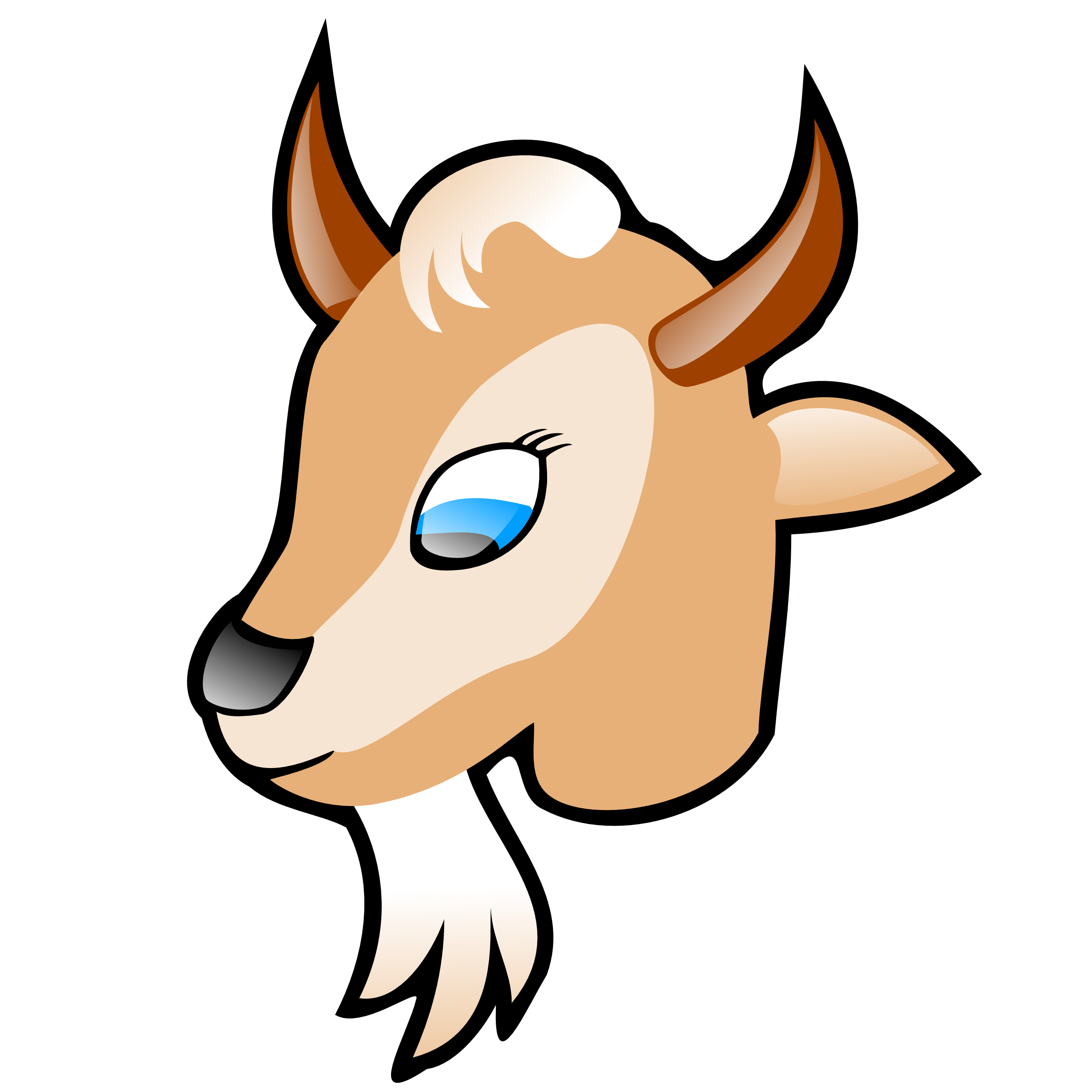 Mountain Goat clipart kid goat #7