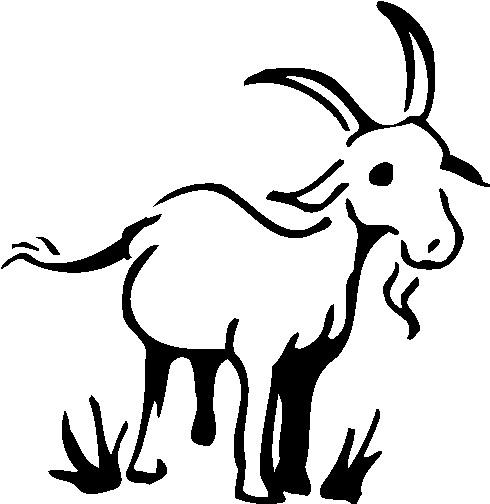 Black & White clipart goat Vintage Bing Pinterest Images free