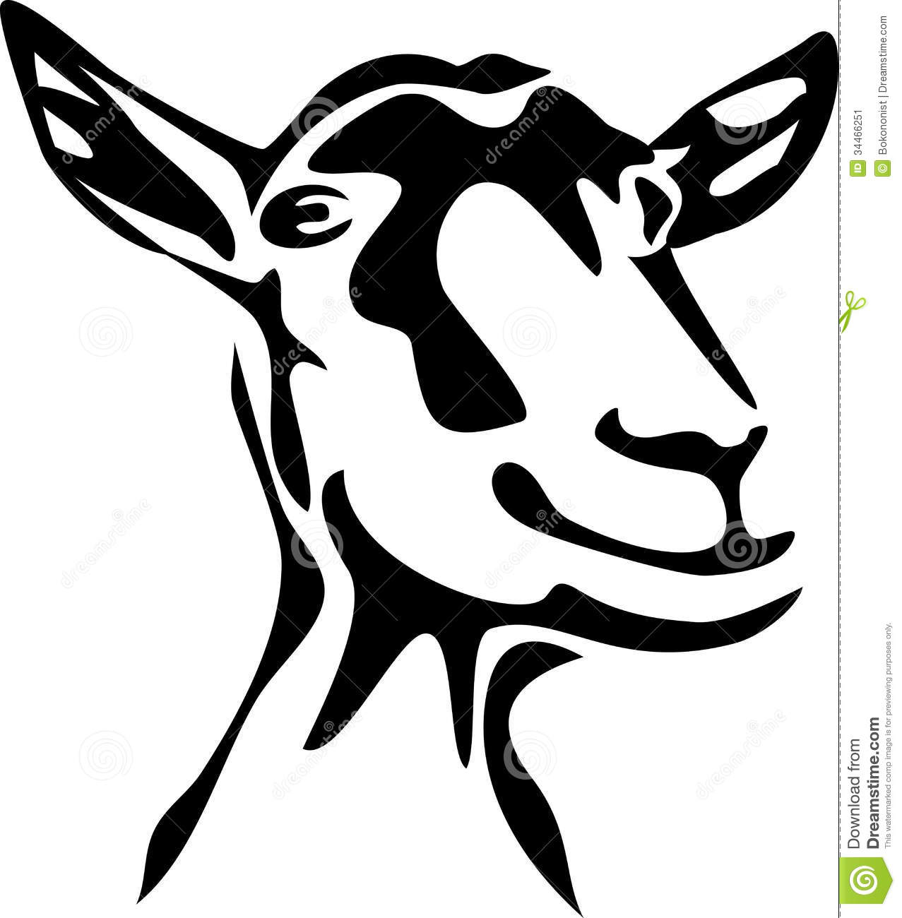 Goats Head clipart  Of Goat Image: Stock