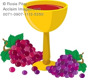 Grape clipart chalice Art Goblet Of Bunches Wine