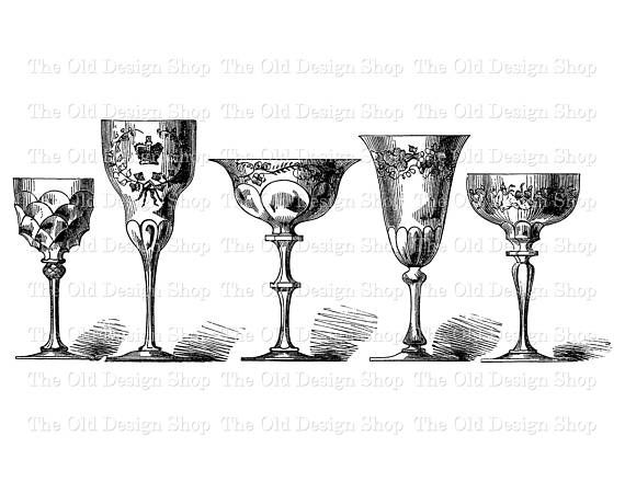 Goblet clipart vintage french About Clip best Antique Goblets