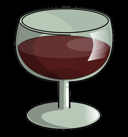 Goblet clipart wine glass #13