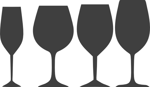 Goblet clipart wine glass #5