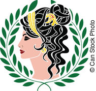 Goddess clipart EPS vector 5 Illustrations stencil