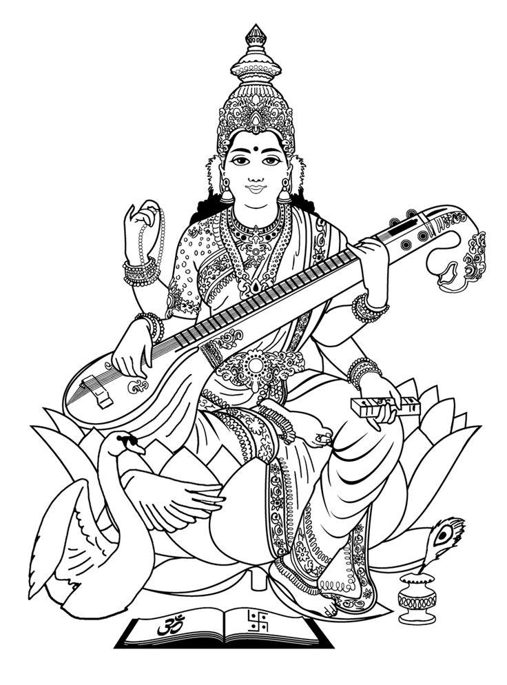 Gods clipart sarswati India on page Free of