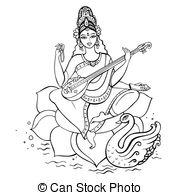 Gods clipart sarswati  hand royalty Goddess