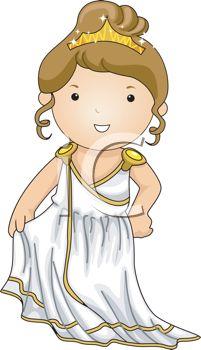 Greece clipart goddess Like Dressed Girl Goddess up
