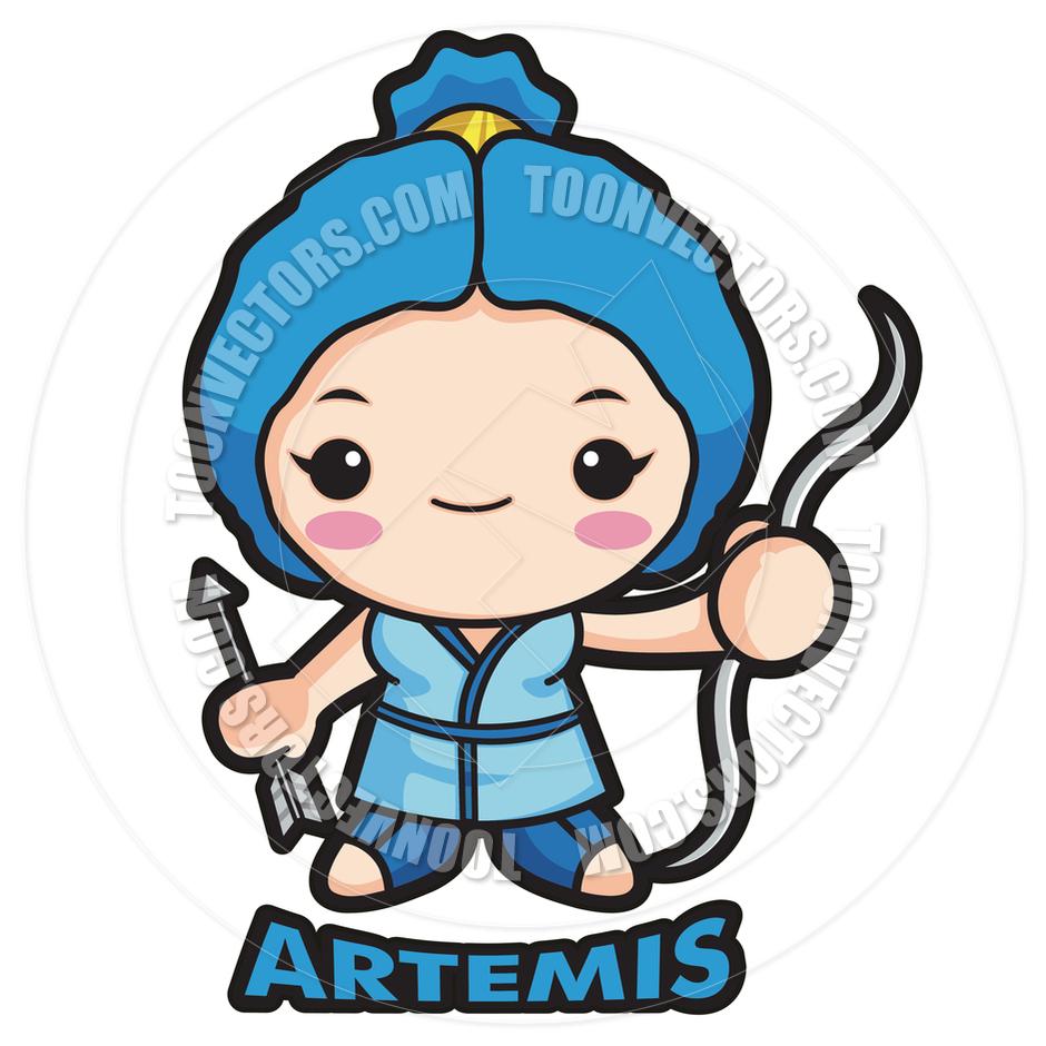 Goddess clipart cartoon Artemis Goddess Greek Cartoon Artemis